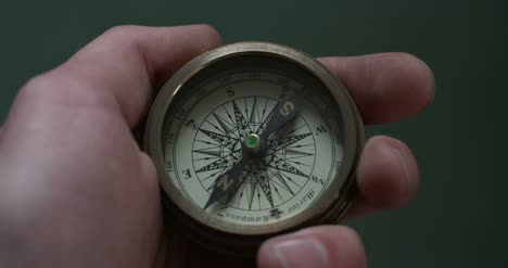 Holding-Old-Fashioned-Compass-4K