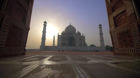 Approaching-the-Taj-Mahal-Through-an-Archway-