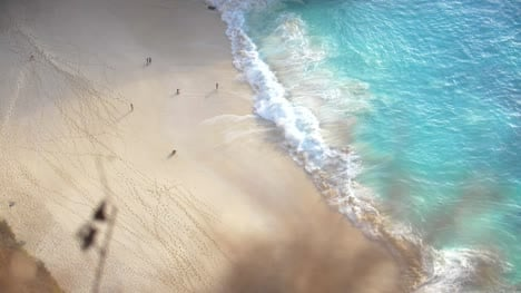 Birds-Eye-View-of-a-Tropical-Beach
