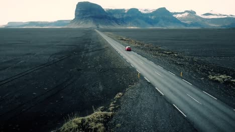 Car-Driving-Through-Icelandic-Landscape