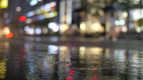 Slow-Motion-Raindrops-in-City-Night