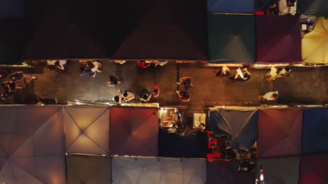 Night-Market-Food-Stall-Aerial-View