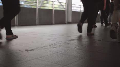 Commuter-and-Pedestrian-Feet-Walking